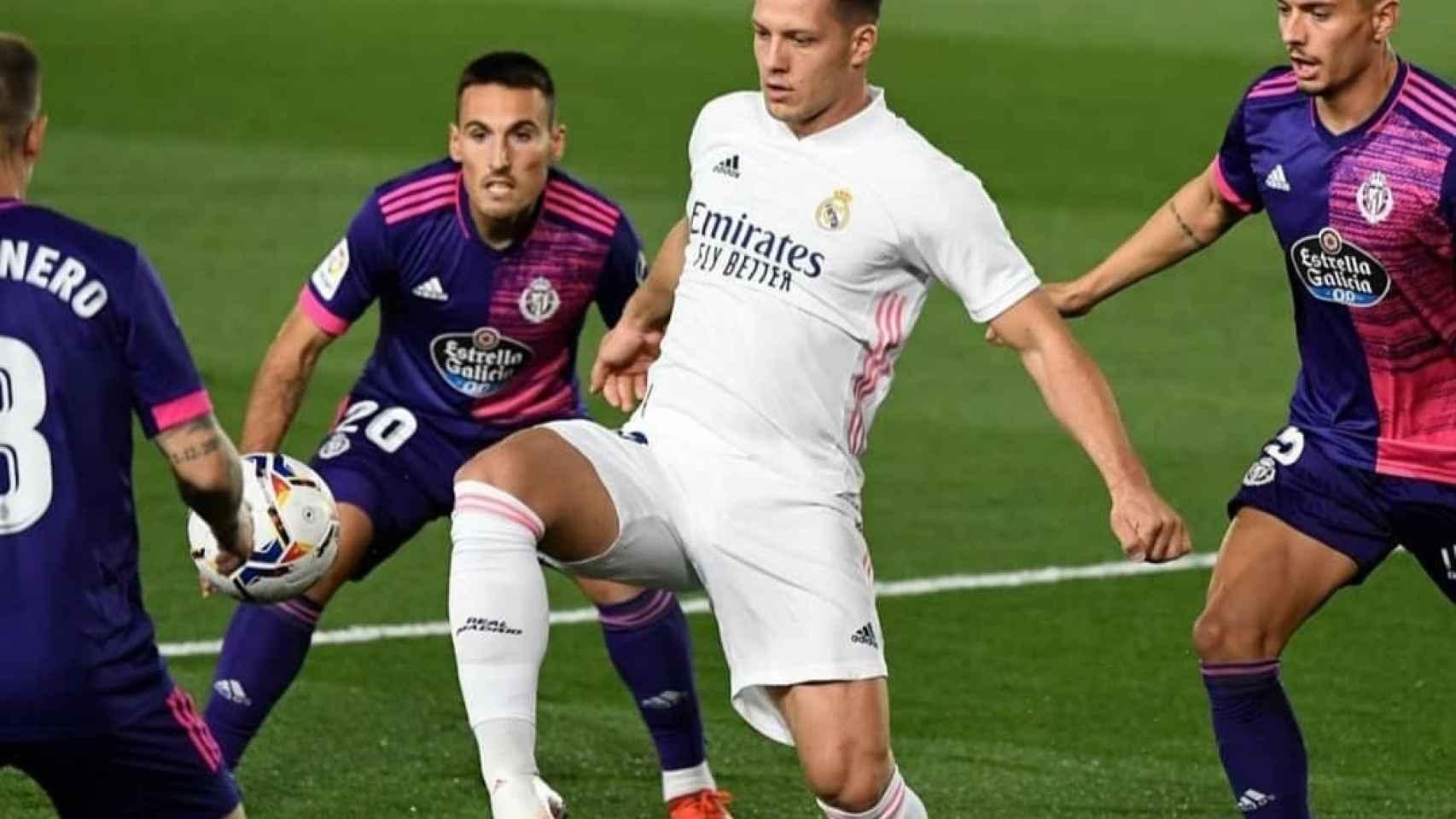 Luka Jovic, en un partido frente al Celta de esta temporada