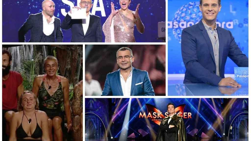 Diferentes rostros televisivos en algunos de los programas más emblemáticos de Antena 3 y Telecinco.