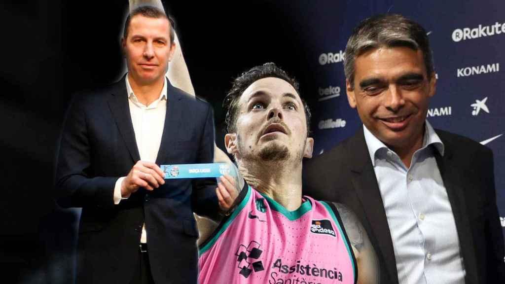 Nacho Rodríguez, Thomas Heurtel y Albert Soler, en un fotomontaje