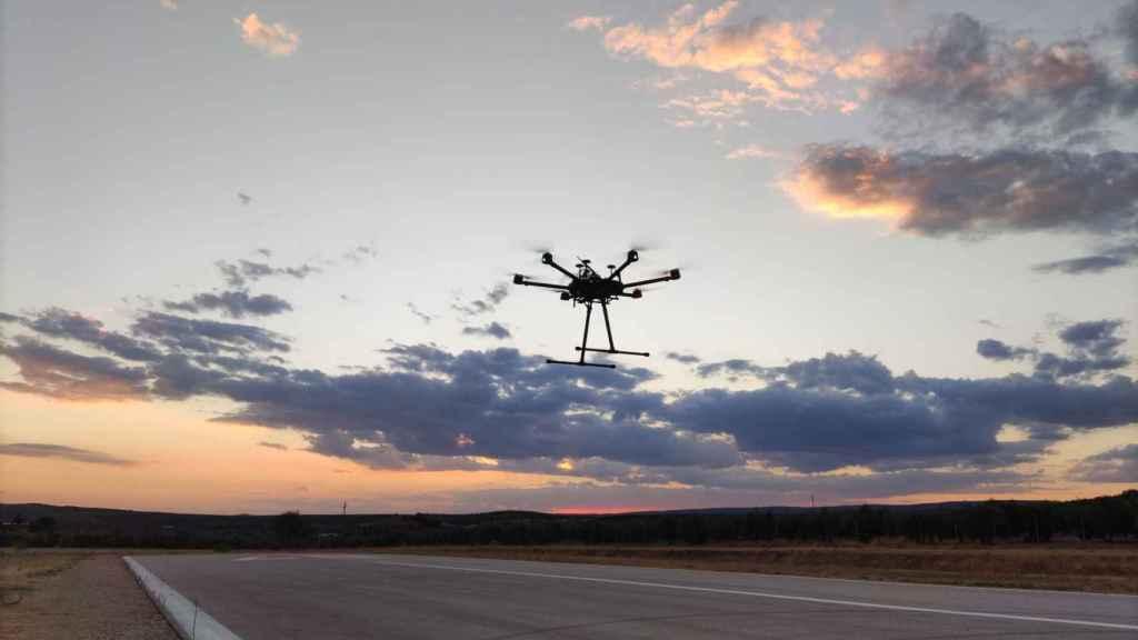 Un dron en el centro Atlas.