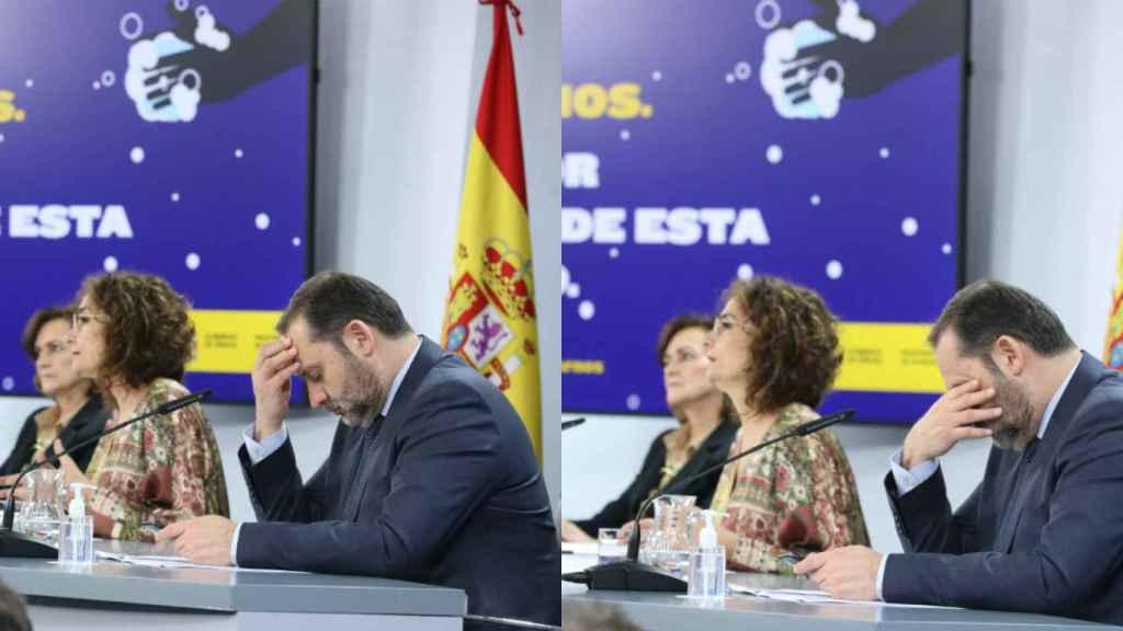 Carmen Calvo, María Jesús Montero y José Luis Ábalos.