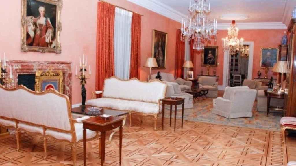 Interior del Palacio de Viana, donde se encuentra la residencia oficial del titular de Exteriores.