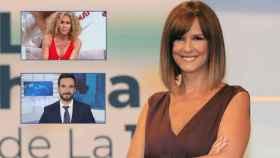 Mónica López junto a Lluís Guilera y Cristina Fernández en montaje de JALEOS.