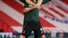 Gareth Bale celebrando su gol con el Tottenham
