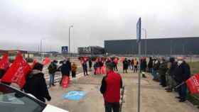 Movilización de los trabajadores de Veolia en Cabanillas del Campo