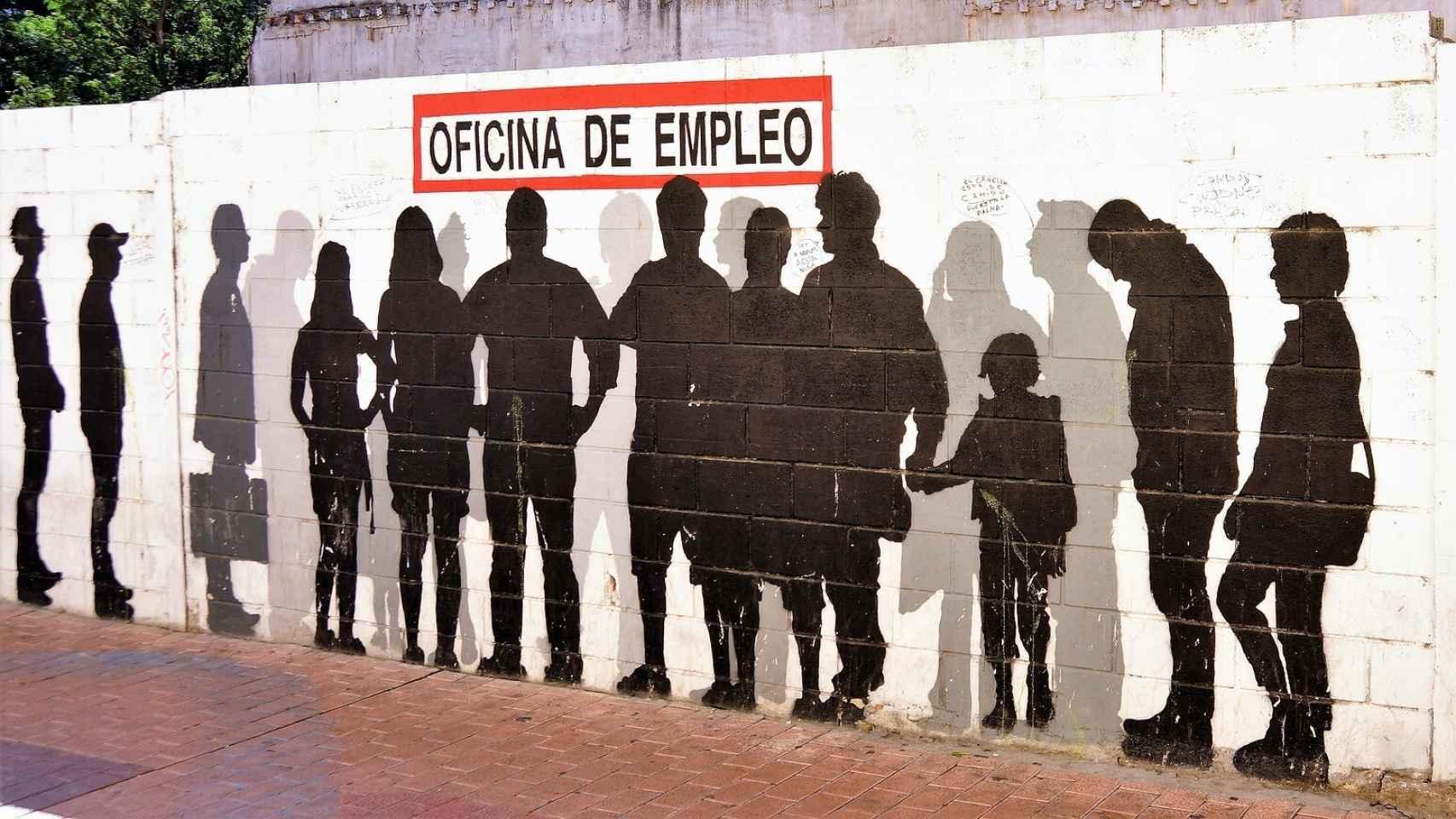 Mural sobre el desempleo. Pixabay