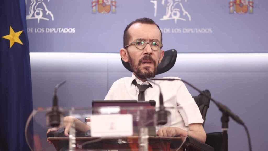 Pablo Echenique, portavoz de Unidas Podemos en el Congreso de los Diputados.