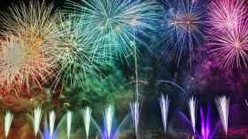 Imagen de fuegos artificiales en nochevieja.