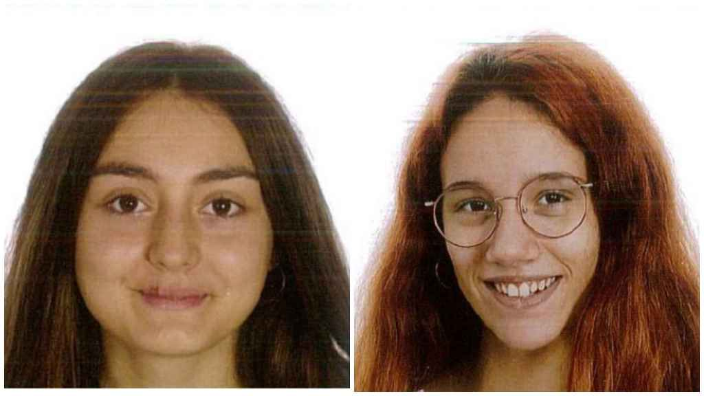 A la izquierda, Araceli Ortiz Calderón (16 años) y, a la derecha, María de los Ángeles López (15 años), la dos menores desaparecidas.