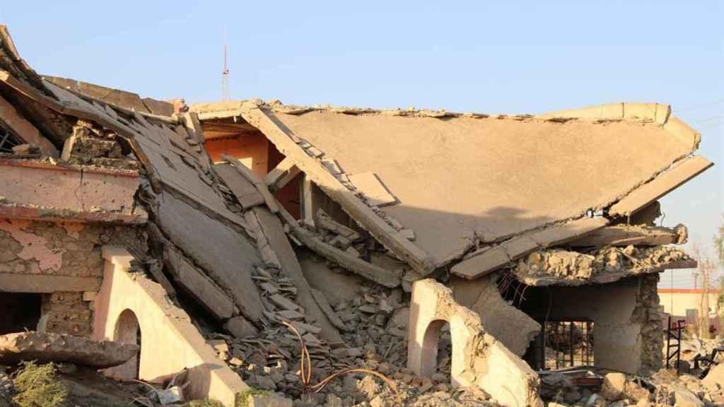 Qaraqosh, principal ciudad cristiana de Irak, quedó prácticamente destruida por Estado Islámico.