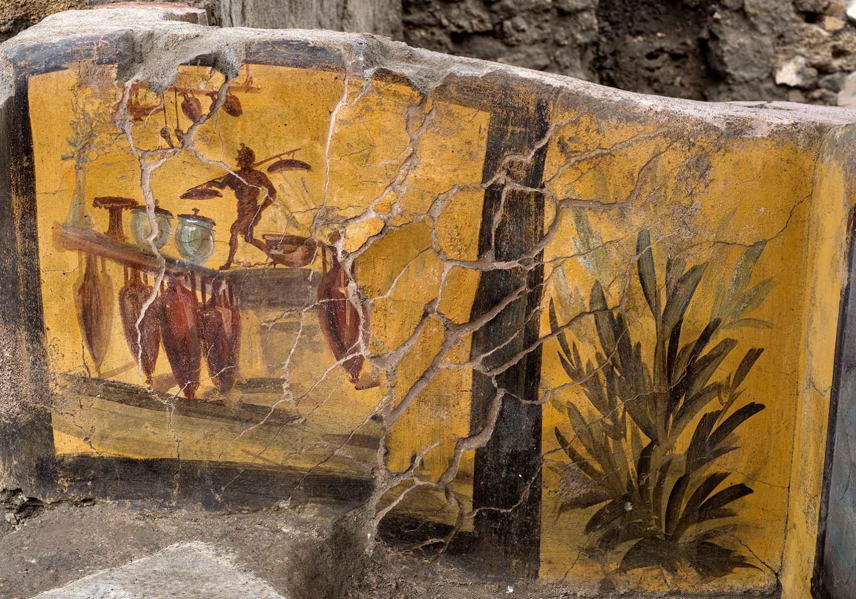 Detalle del último hallazgo en Pompeya.