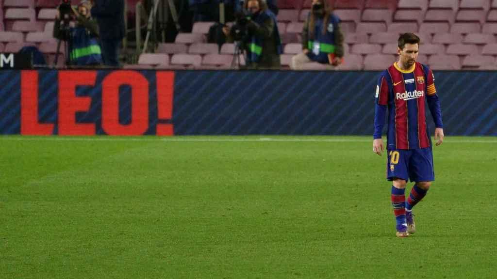 Leo Messi durante un partido del Barça de la temporada 2020/2021