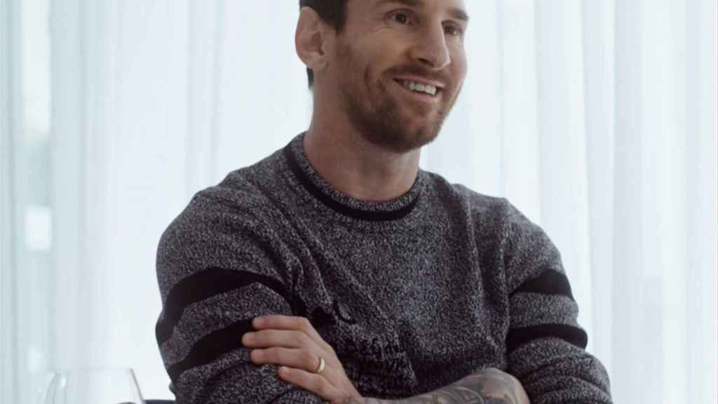 Leo Messi, durante la entrevista con Jordi Évole
