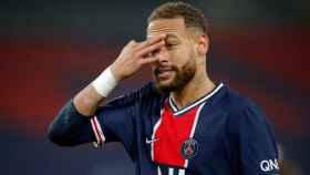 Neymar Jr. durante un partido con el PSG