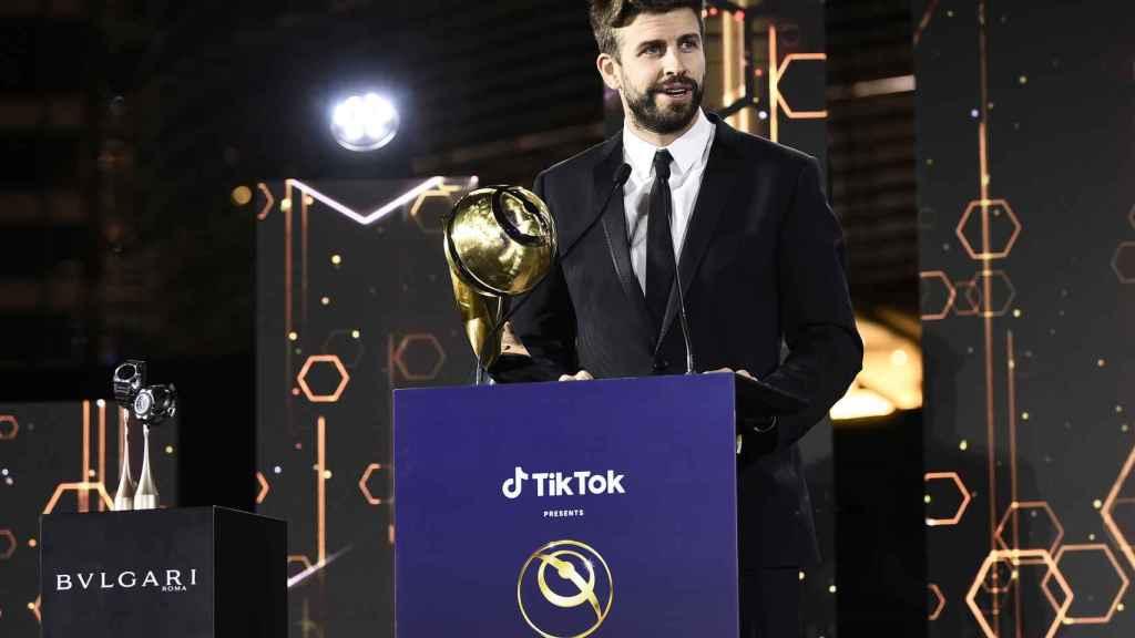Gerard Piqué, en los Globe Soccer Awarrds 2020