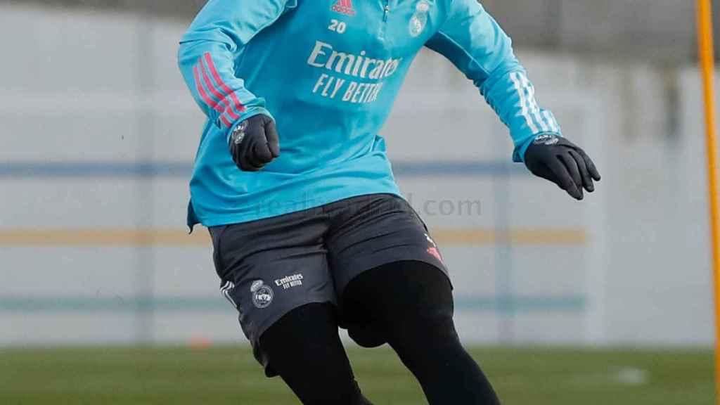 Vinicius Júnior, en un entrenamiento del Real Madrid
