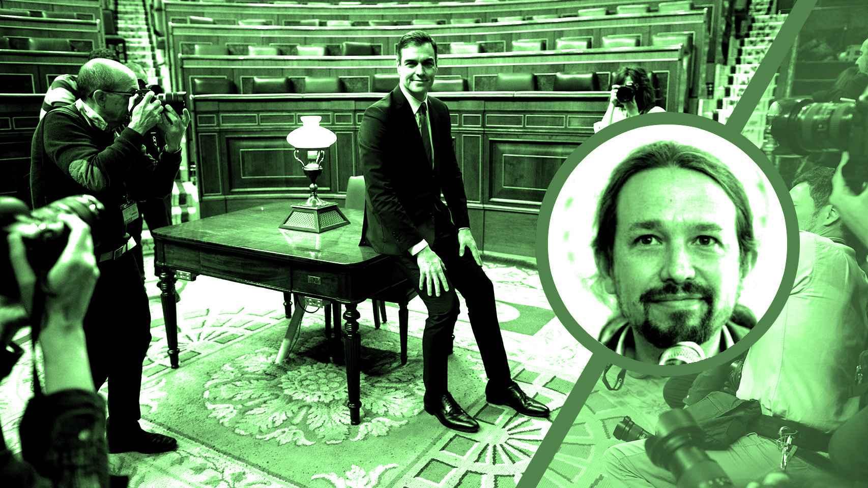 El presidente del Gobierno, Pedro Sánchez, y el vicepresidente, Pablo Iglesias.