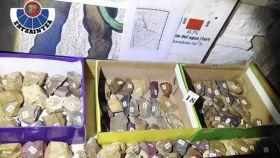 Algunas de las 20.000 piezas arqueológicas rescatadas.