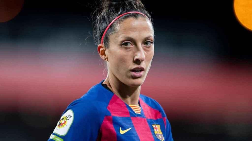 Jenni Hermoso, en un partido del Barcelona de la temporada 2019/2020