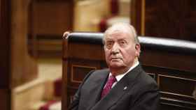 Juan Carlos I en su última asistencia al Congreso de los Diputados.