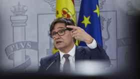Salvador Illa, ministro de Sanidad, en una comparecencia en el Palacio de La Moncloa.