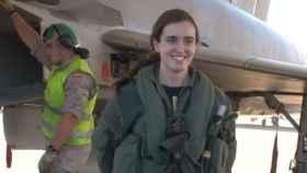 La teniente Gutiérrez tras completar su 'suelta' el pasado 22 de diciembre.