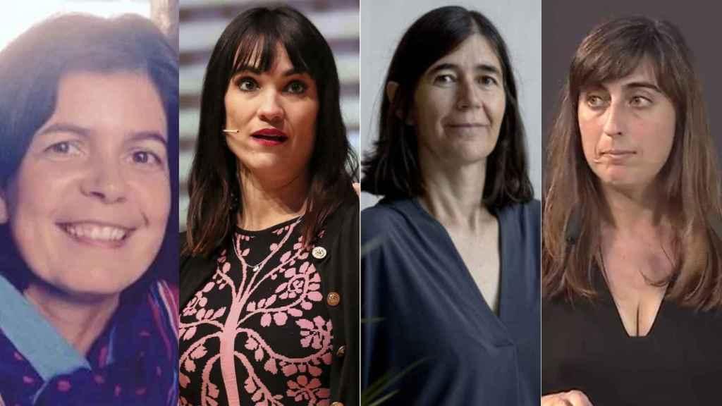 Las 4 españolas reconocidas por la CE, por orden: Paz Fernández, Irene Villa, María Blasco y Emilia Gómez.