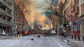 Lugar de la explosión de Nochebuena en Nashville, Tennessee.