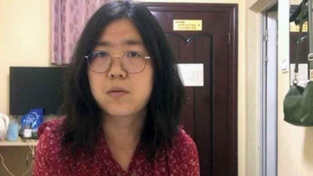 Zhang Zhan, la periodista que alertó de un nuevo coronavirus en Wuhan.