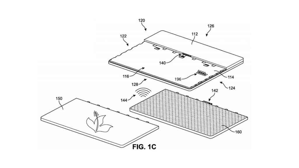 Patente de Microsoft con una Surface.