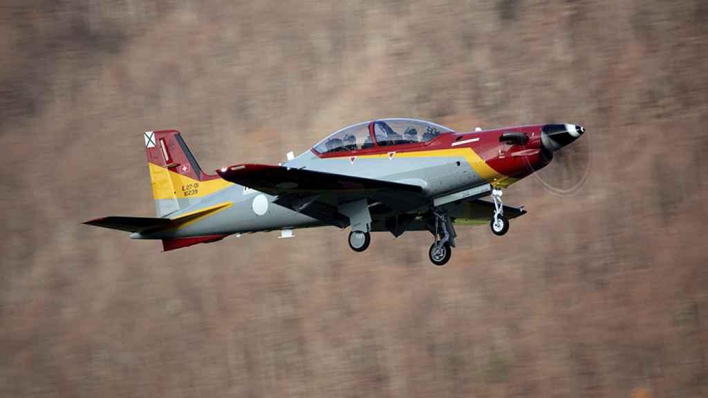 PC-21 con los colores del Ejército del Aire