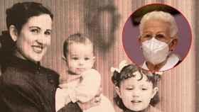 Araceli Hidalgo, en una imagen de su juventud y en otra tomada el pasado 27 de diciembre de 2020.
