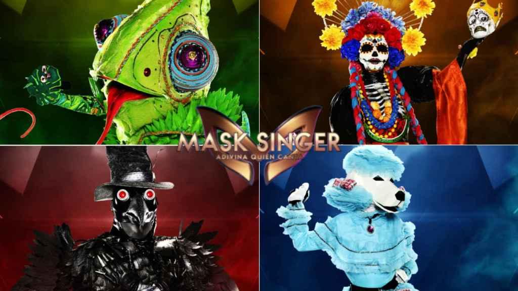 Los cuatro finalistas de 'Mask Singer' (Atresmedia)