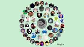 Un ejemplo de imagen creada con la app Círculo de amigos de Twitter