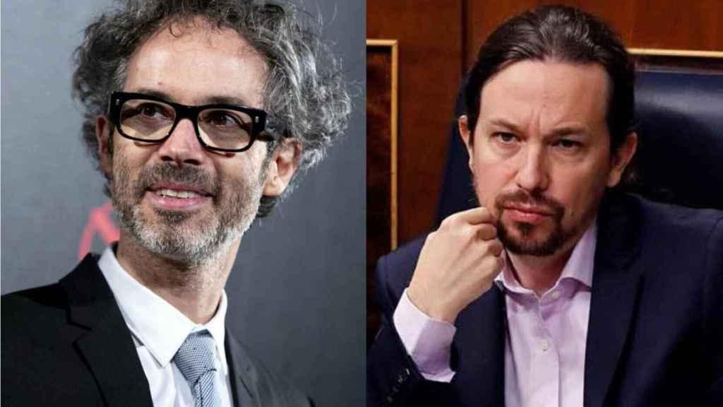James Rhodes y Pablo Iglesias en un fotomontaje.