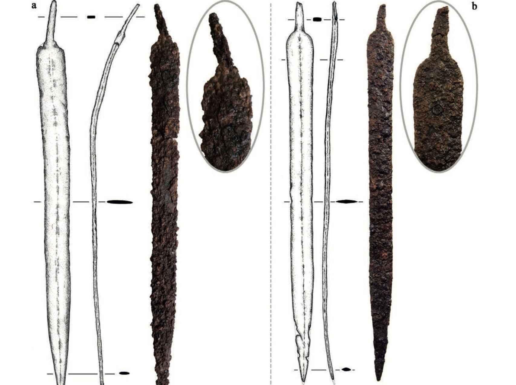 Espada encontrada en el yacimiento de Libisosa.