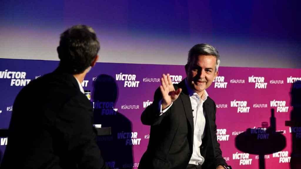 Víctor Font, durante la presentación de su proyecto deportivo. Foto: Twitter (@sialfutur)