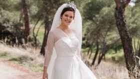 Andrea Gómez-Acebo Finat, en el día de su boda (Foto: Retratos de un instante)