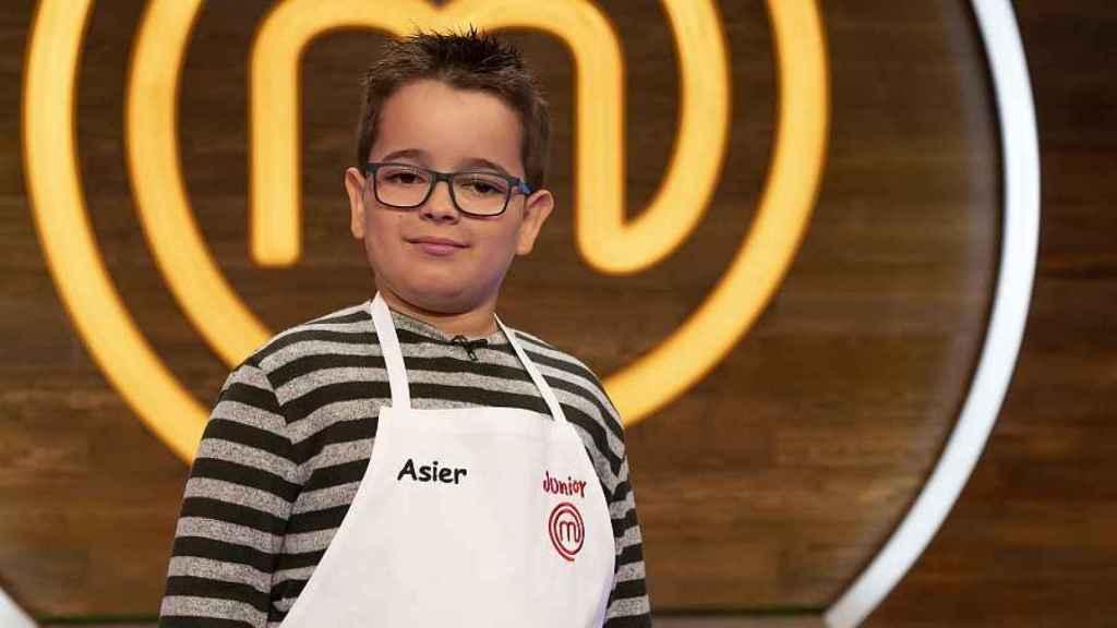 Asier, concursante de 'MasterChef Junior', en una imagen difundida por RTVE.