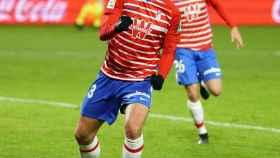 Jorge Molina celebra un gol con el Granada
