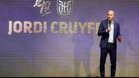 Jordi Cruyff durante un acto