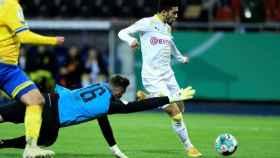 Jadon Sancho, en un partido del Borussia Dortmund de la temporada 2020/2021