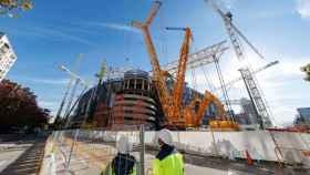 Las obras del Santiago Bernabéu en diciembre de 2020