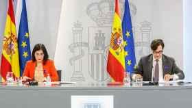 Carolina Darias y Salvador Illa, en una rueda de prensa tras el Consejo Interterritorial de Salud.
