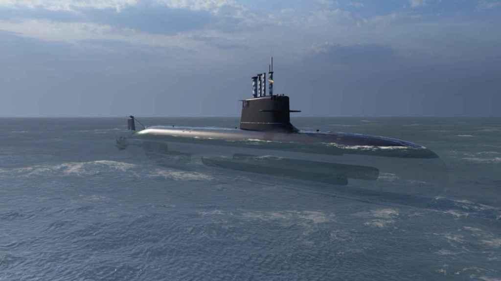 Prototipo del submarino S-80 diseñando por Navantia.