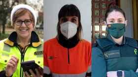 Yolanda, Belén y Yaiza, tres mujeres que estarán de guardia este 31 de diciembre.