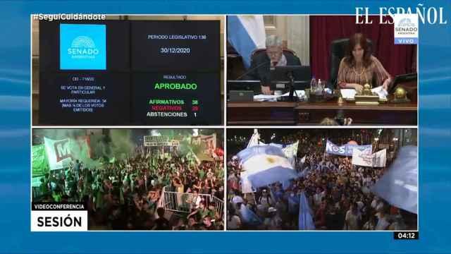 El Senado de Argentina aprueba la ley del aborto hasta la semana 14