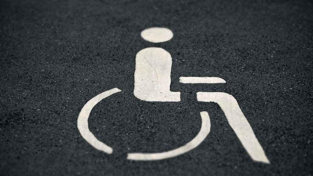 Una plaza de discapacitados.