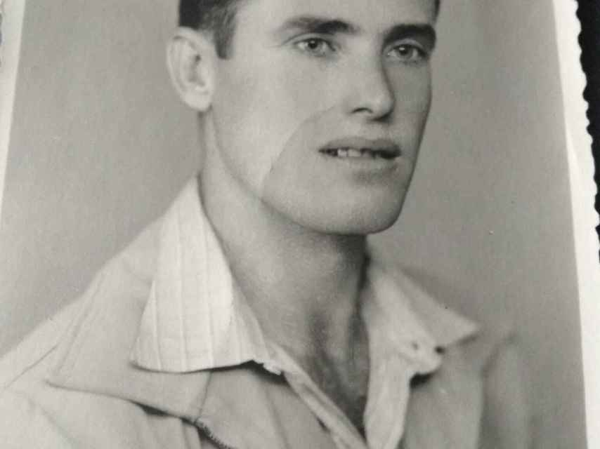 Federico Izquierdo, de joven, durante la dictadura de Franco.