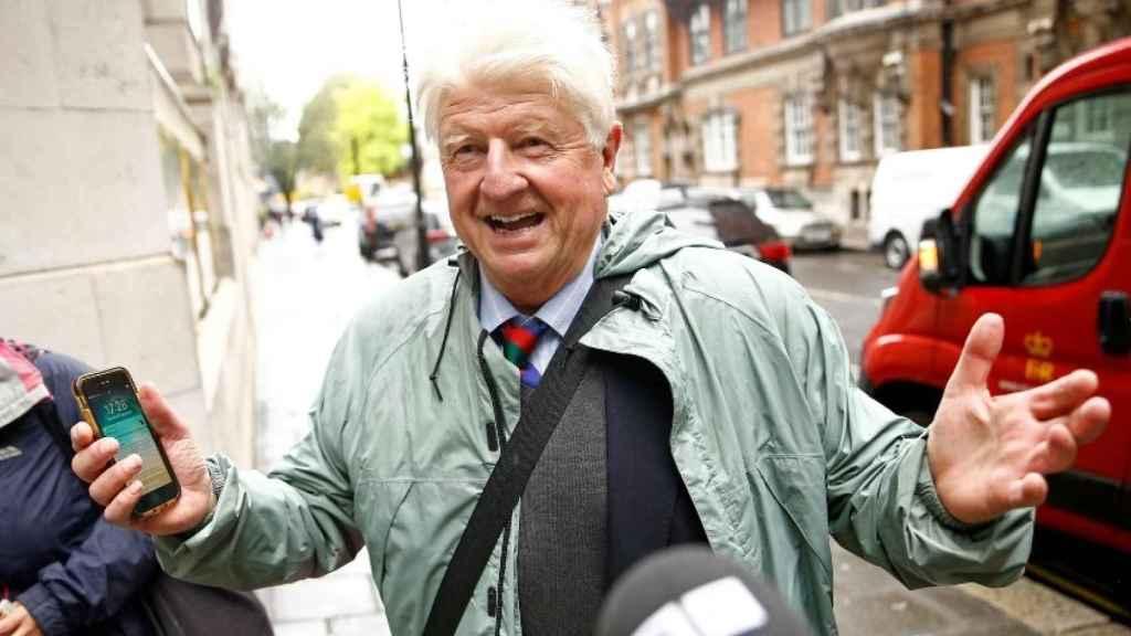 Stanley Johnson, padre de Boris Johnson. Reuters